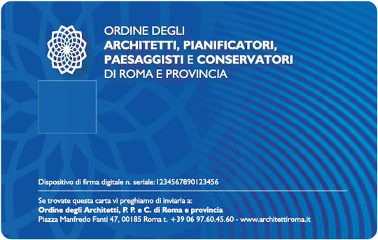 Il nuovo tesserino dell 39 ordine con firma digitale for Roma ordine architetti